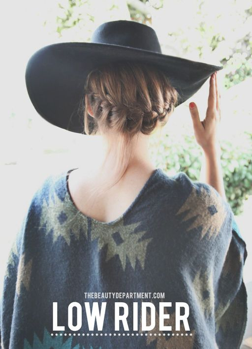 """the hat trick"" for when the weather is icky and you still need to look fabulous #hairstyle #beauty #braids http://thebeautydepartment.com/2014/01/the-hat-trick/"