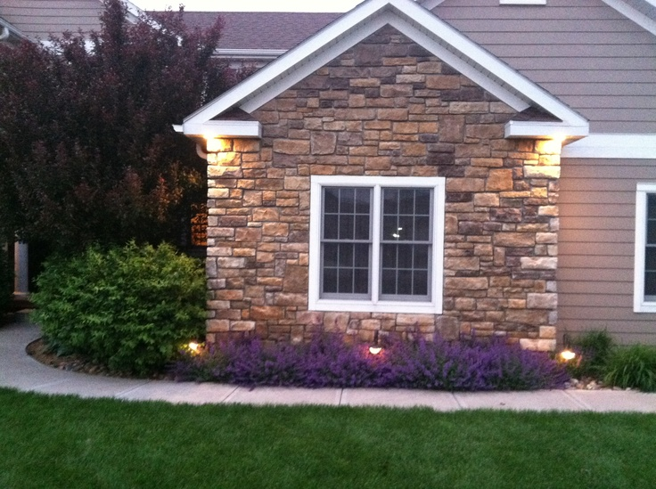 Landscaping Catmint Stone House Front Stone Front House