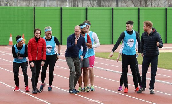 Team Heads Together at a London Marathon Training Day at the Queen Elizabeth Olympic Park February 5, 2017