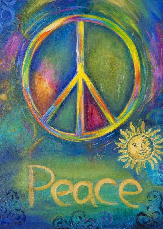 ☮ American Hippie Psychedelic Art Quotes ~ Peace Sign .. Sun