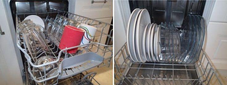 Правильное расположение посуды в посудомоечной машине