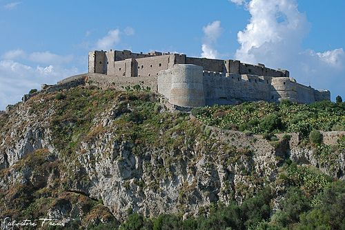 Castello Milazzo Sicily, build by Swabian Ruler Frederick II to protect the harbor to the Tyrrhenian Sea.