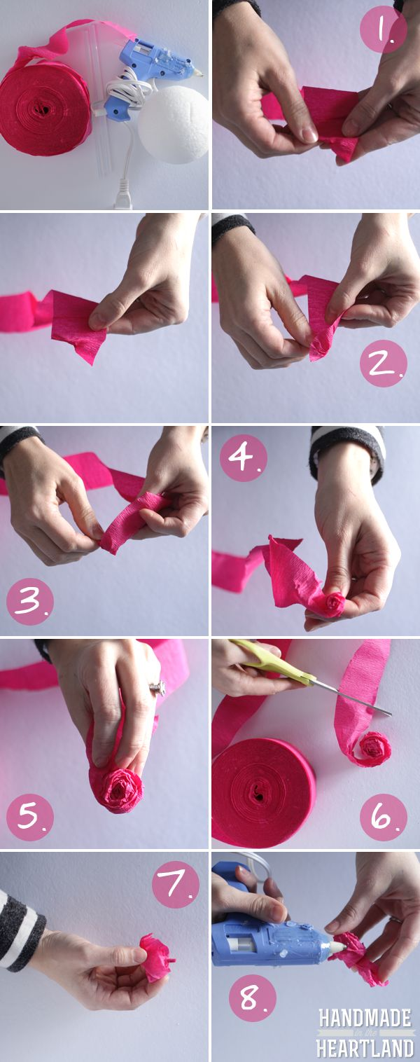Diy tissue paper roses mondays rose tutorial and tissue for Diy paper roses step by step