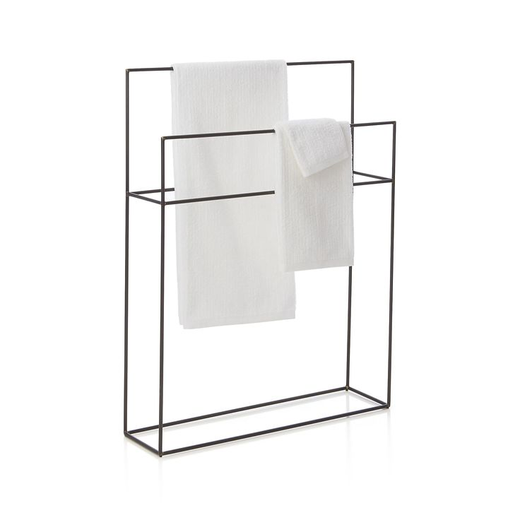 Jackson Standing Towel Rack  | Crate and Barrel