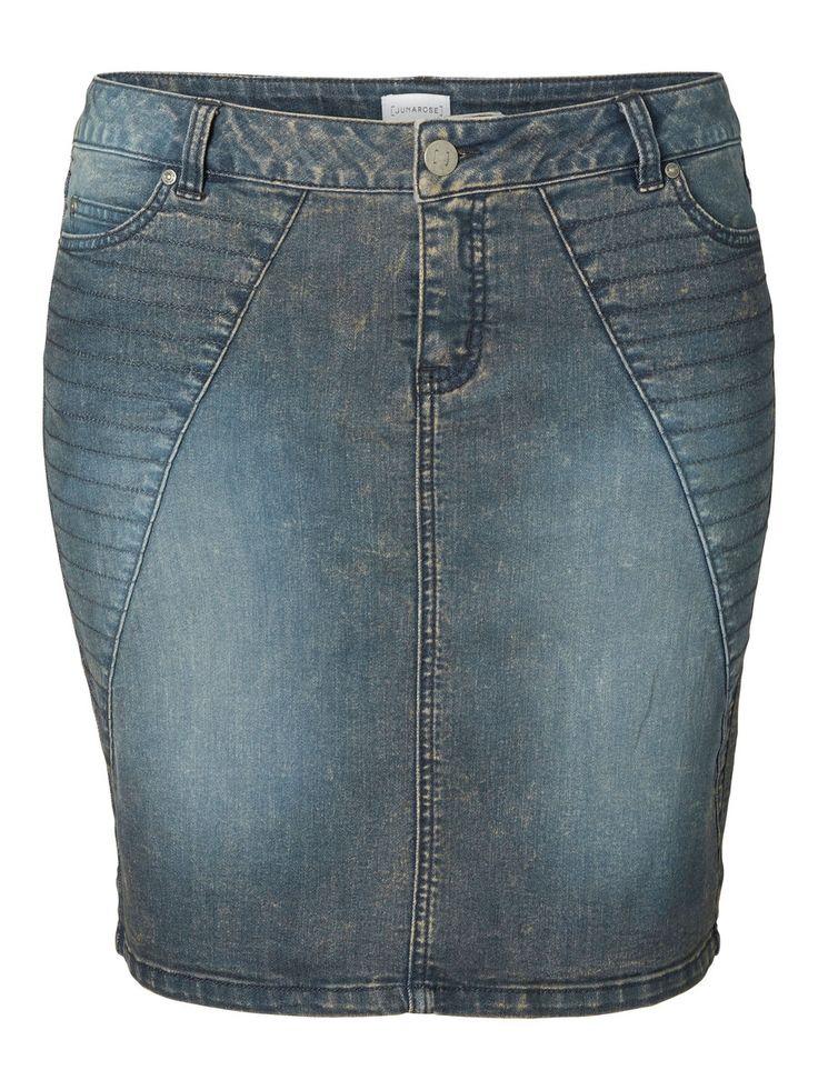 Plus size denim skirt from JUNAROSE #junarose #plussize #skirt #denim #backtoreality