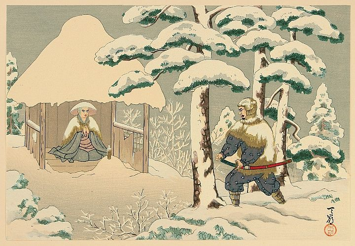"""Life of Holy Priest Nichiren - 30. """"Sanmaido in Sado"""" by Tenrei Horiuchi. Nichiren arrived at Sado island in 1271. His resident was dilapidated Sanmaido in the graveyard in Tsukahara. Although the life was severe, Nichiren completed several of his important writings."""