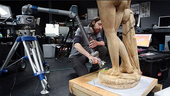 Scanning Hiram Powers' Greek Slave