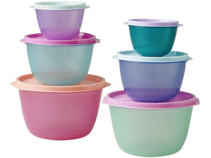 RICE Frischhaltedosen Set. Farbenfrohes 3er-Set lebensmittelechter Frischhaltedosen. Alle drei Dosen passen perfekt ineinander und sind ideal geeignet zur luftdichten Aufbewahrung.