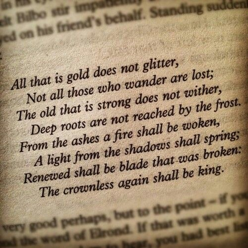 This is part of Gandalf's letter at the Prancing Pony.