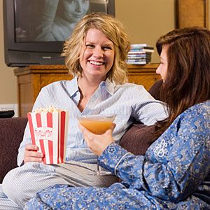 Girls' Night In: Movie Night  Roll out the red carpet for a night of girly movies, gossip and cute pajamas
