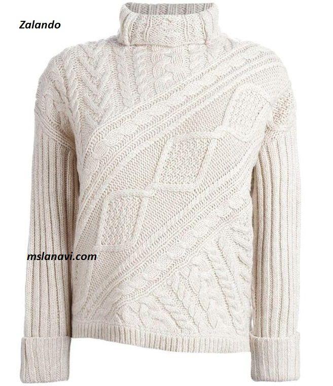 Вязаный свитер с косой вставкой из Zalando - СХЕМЫ…