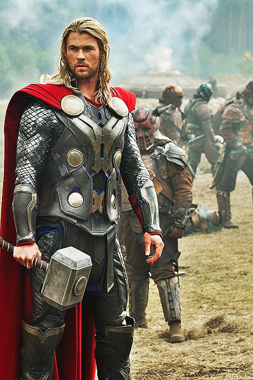 "Chris Hemsworth as Thor in ""Thor 2:The Dark World"""