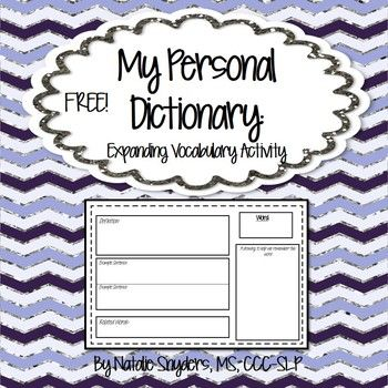 Great vocabulary freebie for upper elementary and middle school!