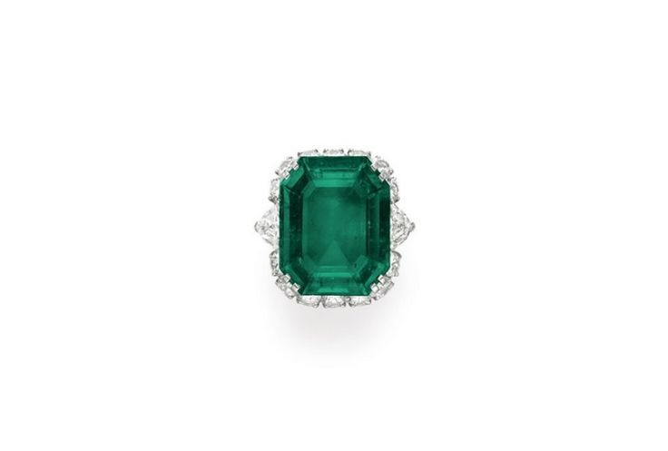 Elizabeth Taylor's emerald-and-diamond ring, by Bulgari, 1962, gift from Richard Burton