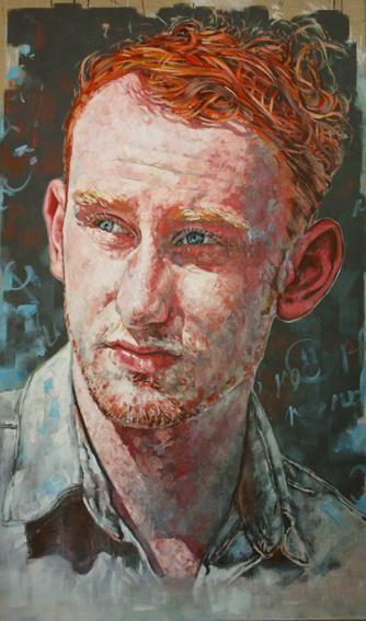 "Portrait entitled ""Pigment"" of Tyler Walker by South African artist Dee Donaldson for the SPI National Portrait Award."