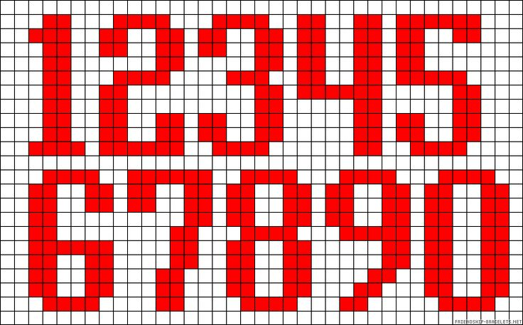 123 perler bead pattern