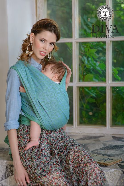 Diva Basico Woven Wrap Lime is an economy-priced line of baby carriers designed in Italy. Free shipping to Canada and worldwide.