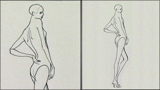 Female Side Back Pose  http://www.universityoffashion.com/lessons/female-side-back-pose/