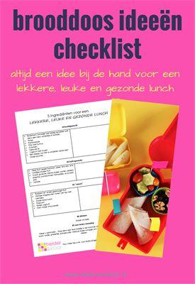 Brooddoos idee�n met gratis checklist voor lekkere, leuke en gezonde lunches | www.helderenklaar.nl | professional organizing |hulp bij opruimen | time management | voor  werkende moeders