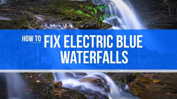 How to Fix Blue Waterfalls in Photoshop or Lightroom   Blue waterfalls are a side effect of white balance and your camera compensating for the colors coming into the sensor. You may have everything dialed in perfectly but when you edit your waterfall pictures they result in an electric blue haze around the highlights.  Why is that? Well Well our cameras can only have one white balance recorded at any given time. but what about RAW it doesn't record any white balance that is just the JPEG…