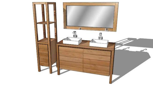 Meuble De Salle De Bain Bengale Mr Bricolage 461 80 3d Warehouse Single Vanity Vanity Bathroom Vanity