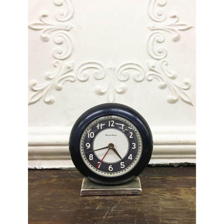 Vintage Waterbury Alarm Clock #vintage #clock #farmhouse #decor #home #antique #gardenhouseantiques