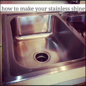 How to make stainless sinks shine