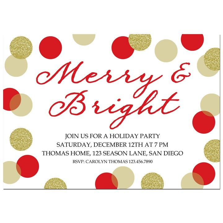 83 Best Christmas Party Invitations Images On Pinterest
