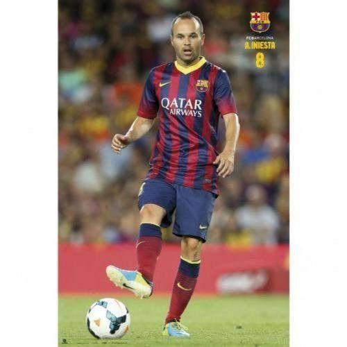 Andreas Iniesta FC Barcelona poster La Liga Spain Grupo Erik new