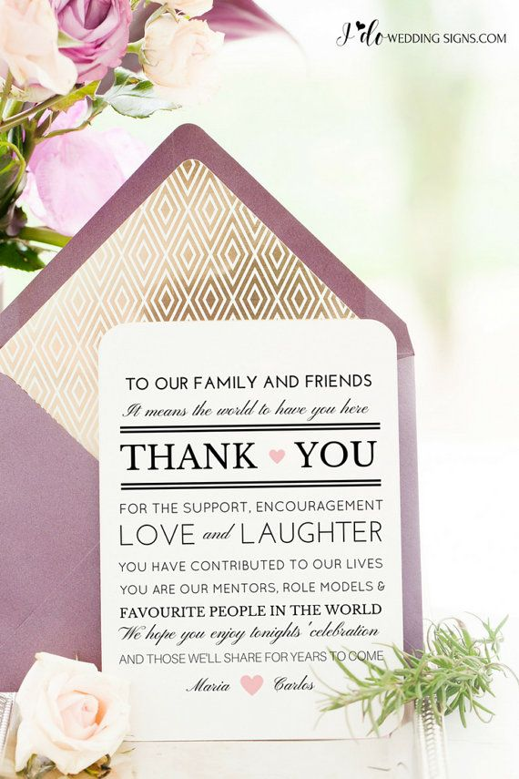 Wedding Thank You  Printable Thank You Card by IdoWeddingSignsShop