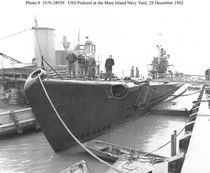 USS Pickerel (SS 177) - She departed Pearl Harbor on 18 March 1943 and, after topping off with fuel and provisions at Midway Island on 22 March, headed for the eastern coast of northern Honshū, Japan and was never heard from again. Pickerel was the first submarine to be lost in the Central Pacific area. She was stricken from the Naval Vessel Register on 19 August 1943.