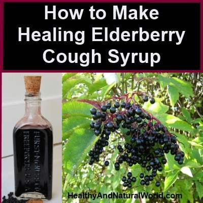 How to Make Healing Elderberry Cough Syrup. Cough, sinusitis, fever, sore throat… all common winter ailments that can exhaust our body and mind. Although sleep is the best remedy to fight a cold or flu, coughing can be very uncomfortable and exhausting as it prevents us to sleep well.  My granny has always been a huge fan of natural, alternative medicine. Her wisdom and recipes are very precious to me and have helped our family to cure many ailments in the past. Last year she gave