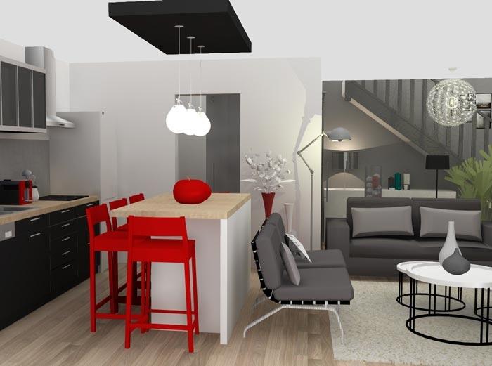 1000 images about projet de l 39 agence marion lano sur pinterest 2d pl - Amenagement piece 3d ...