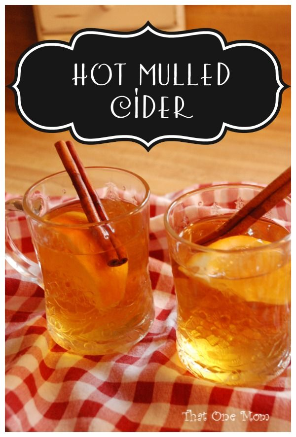 Hot Mulled Cider *That One Mom*
