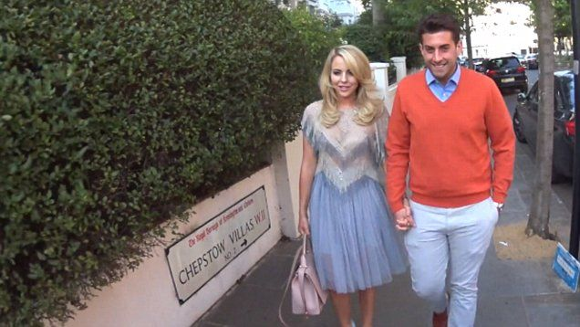 TOWIE's Lydia Bright and James Argent looked loved up at ITV's summer party