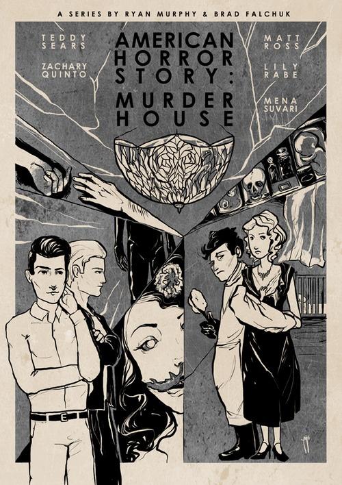 American Horror Story: Murder House by Roberto Sánchez Prints // Behance // Twitter