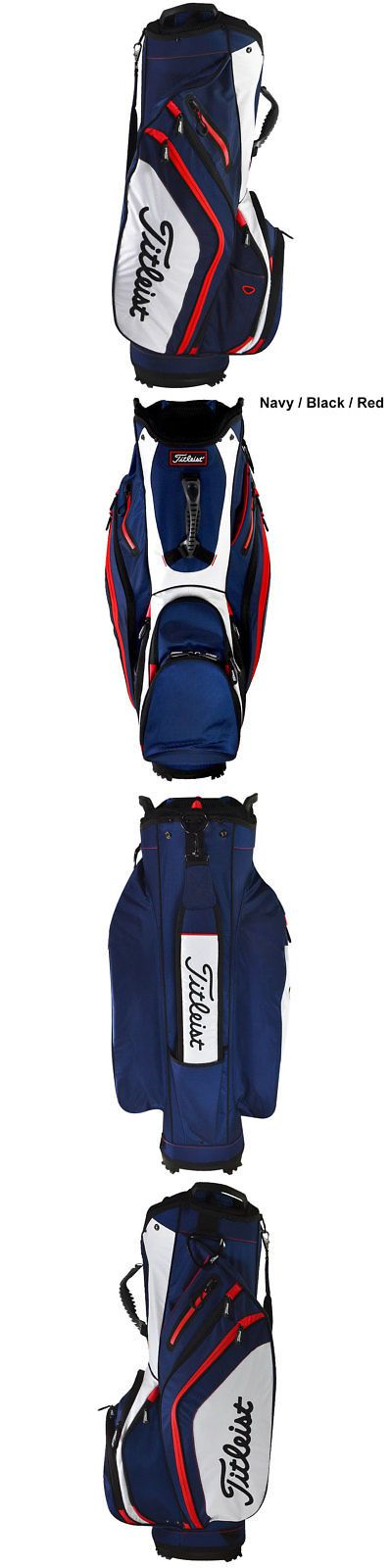 Golf Club Bags 30109: New Titleist Golf 2016 Lightweight Cart Bag- Navy Black Red Tb6ct5-416 -> BUY IT NOW ONLY: $129.99 on eBay!