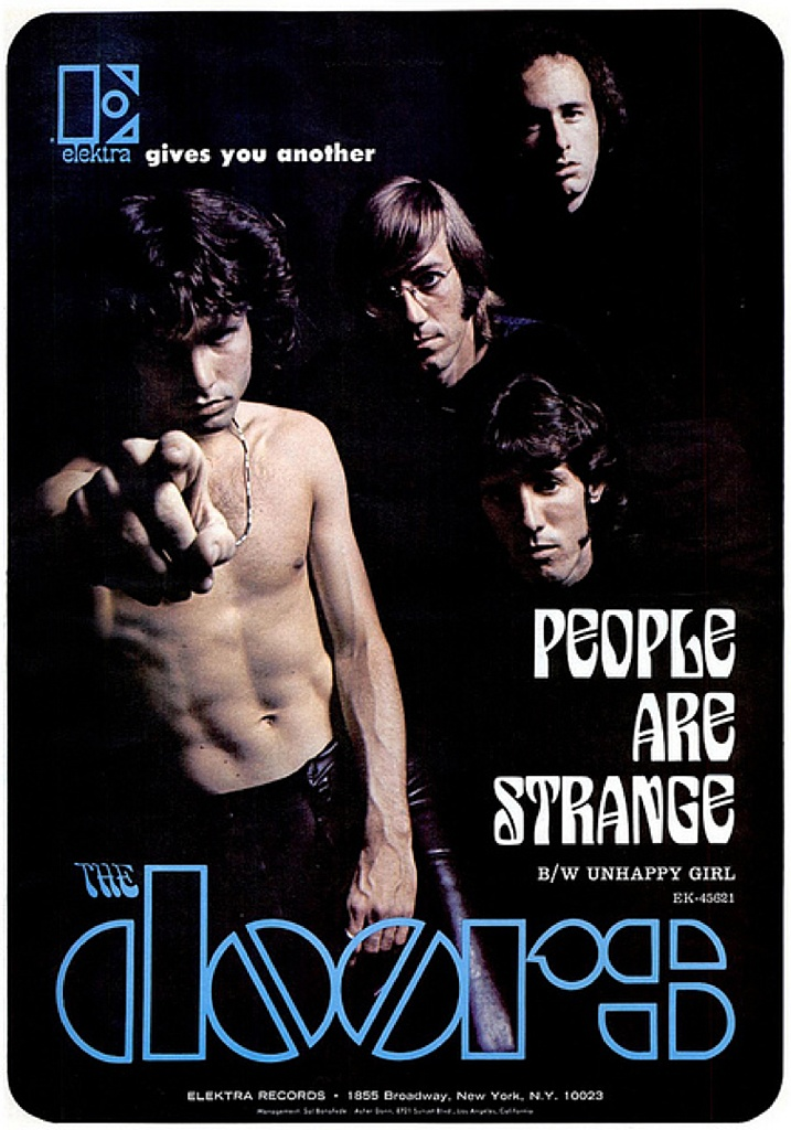 1967 The Doors / Elektra Records ad. To you Doors fans everywhere.