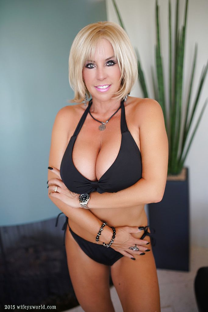 Blonde busty mom