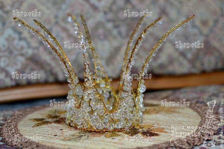 """Детская бижутерия ручной работы. Ярмарка Мастеров - ручная работа. Купить Корона для принцессы из проволоки """"Брюлик"""". Handmade. Золотой"""