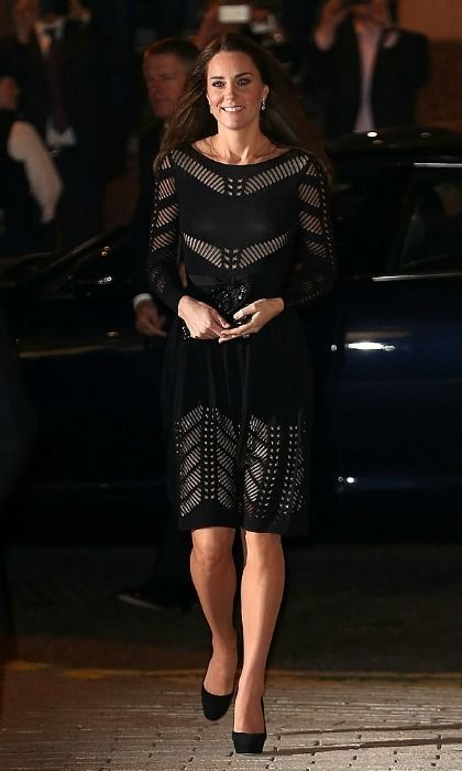 For the 2014 Action on Addiction Autumn Gala Evening at L'Anima, the royal mom wore a daring piece by the British label featuring panels exposing the dress's nude slip beneath. Photo: Danny Martindale/WireImage