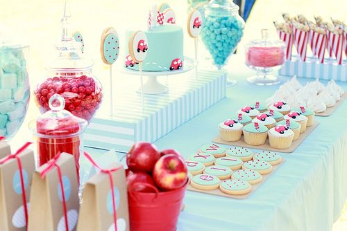 Beautiful. #party #cupcake #goodies #teal #red