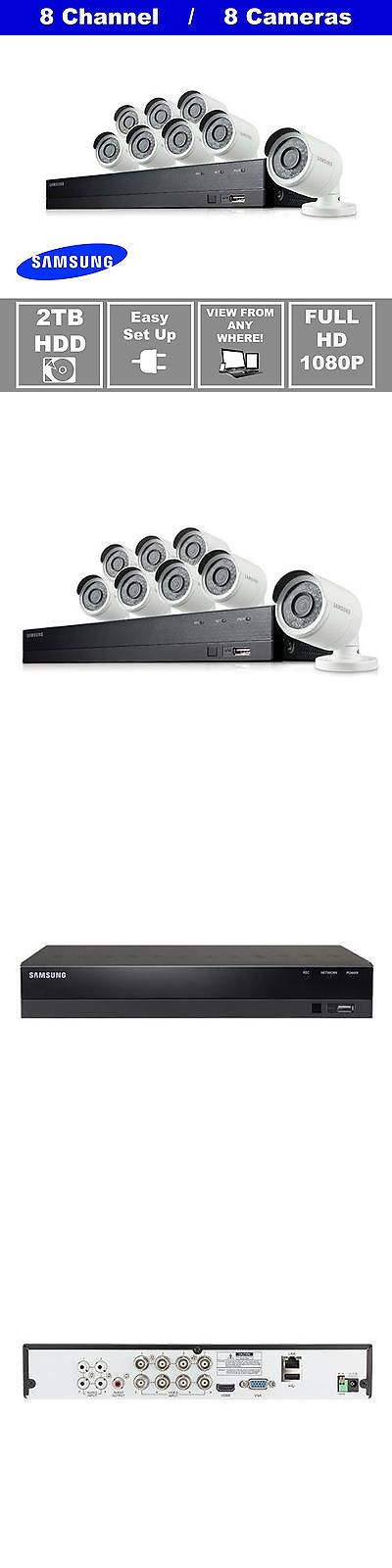 Surveillance Security Systems: Samsung Sdh-B74081 8 Channel 2Tb Hdd, 1080P Dvr Security System, 8 Cameras, New BUY IT NOW ONLY: $519.0