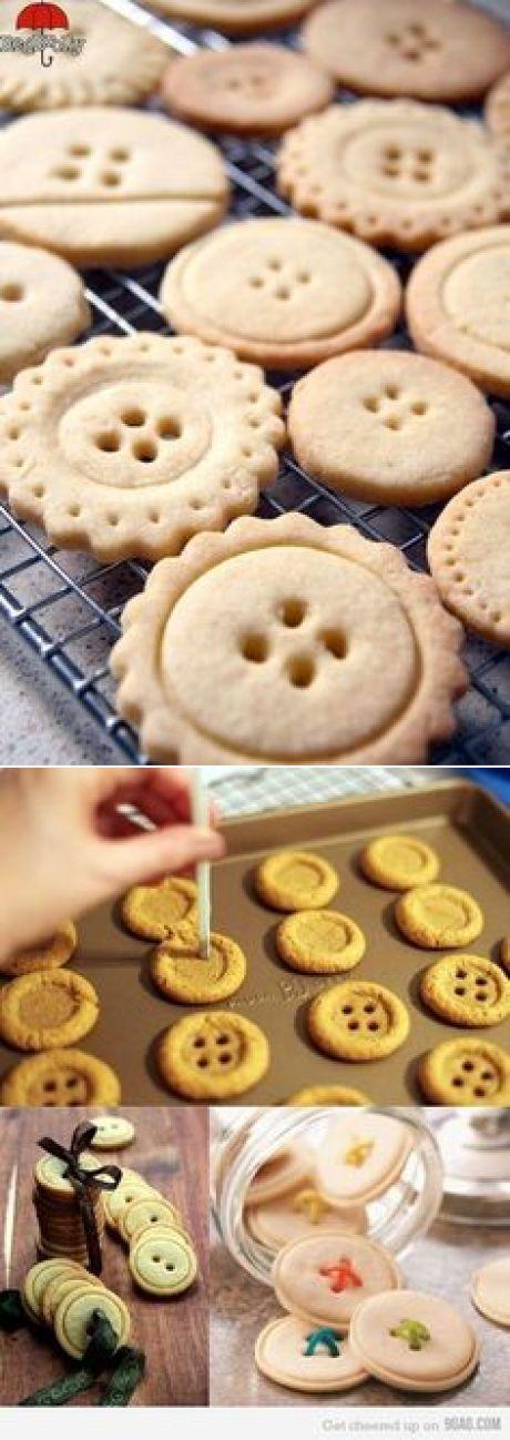 Ciastka guziki | Christmas | Button cookies, Fun food and Food ideas