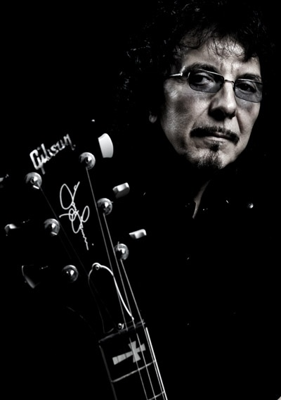 Tony Iommi with his Guitar