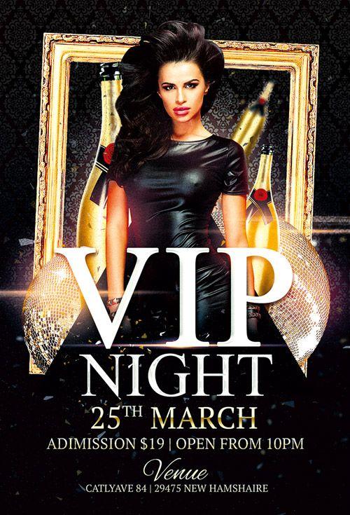 "Plantilla gratis PSD ""Vip Night Club"""
