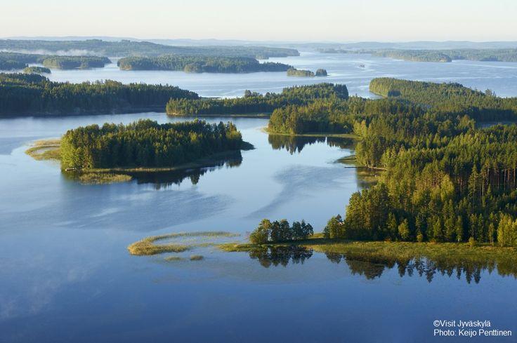 Aerial view from Hankasalmi. ©Visit Jyväskylä Photo: Keijo Penttinen.