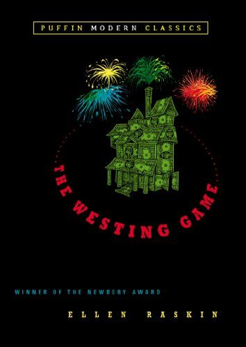 The Westing Game (Puffin Modern Classics) by Ellen Raskin http://smile.amazon.com/dp/014240120X/ref=cm_sw_r_pi_dp_wmfAvb0RZTSYE