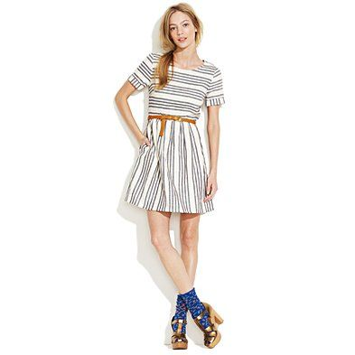My new favorite summer dress. Stucco, stripe, songbird dress, madewell.