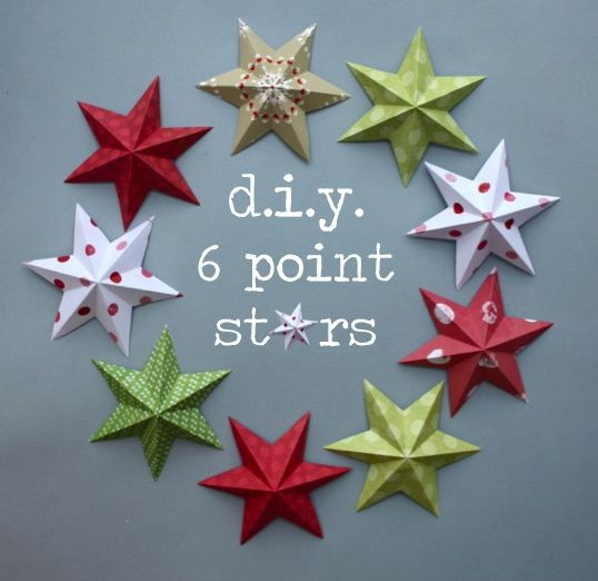 6 point stars WITH templates FROM http://www.katescreativespace.com/2012/11/30/starstruck-at-christmas/